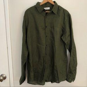Uniqlo 100% linen shirt.  Size L.